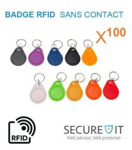 100 Badge Porte Cle